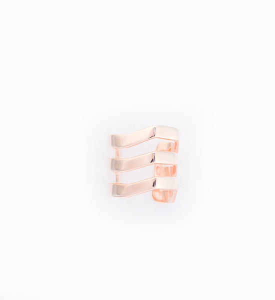 Rose Gold Trinity Earcuff