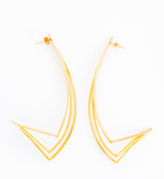 Ziggurat Drop Earrings