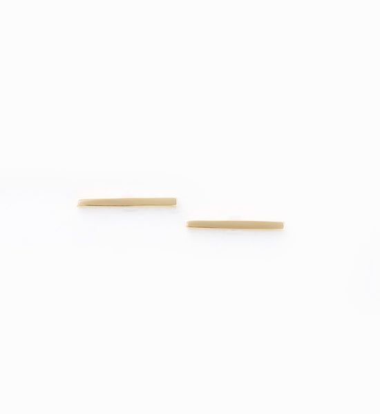 Gold Staple Stud Earrings