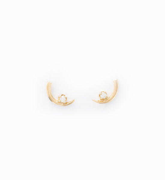 Arc Lineage Diamond Stud Earrings