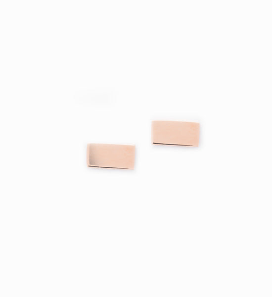 Rose Gold Flat Bar Earrings