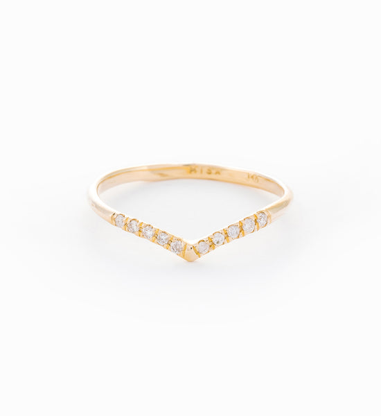 Mini Beak Diamond Ring: Front