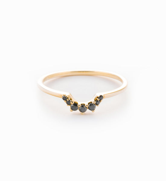Black Diamond Tiara Band: Front