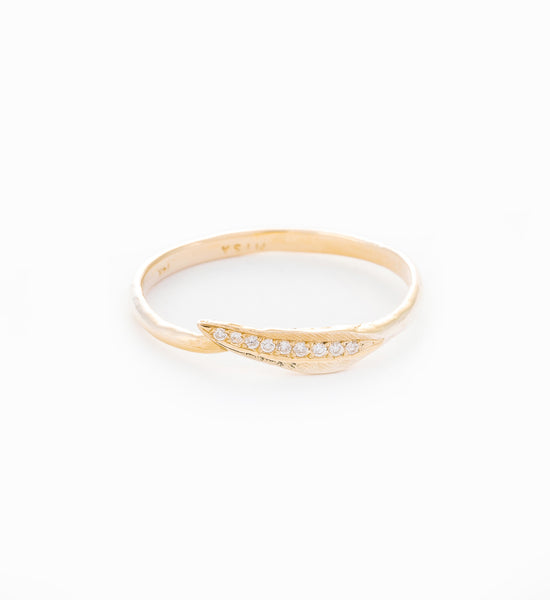 Ti Leaf Ring: Front