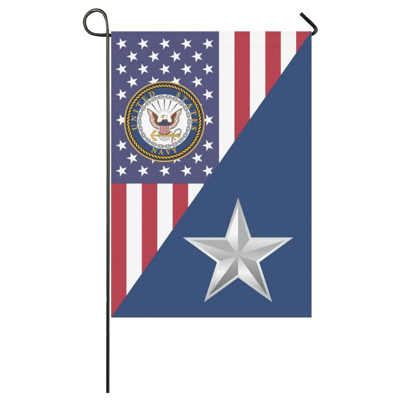 US Navy O-7 Rear Admiral Lower Half O7 RDML House Flag 28 inches x 40 inches Twin-Side Printing