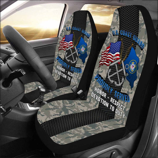 US Coast Guard Boatswains Mate BM Logo Proudly Served - Car Seat Covers (Set of 2)