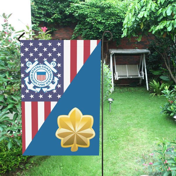 US Coast Guard O-4 Lieutenant Commander O4 LCDR Garden Flag/Yard Flag 12 inches x 18 inches