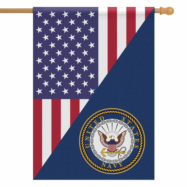 US Navy House Flag 28 inches x 40 inches Twin-Side Printing