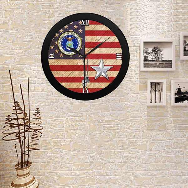 US Air Force O-7 Brigadier General Brig O7 Wall Clock