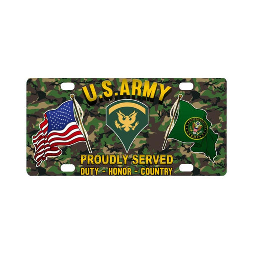 US Army E-5 SPC E5 Specialist RanksProudly Plate F Classic License Plate