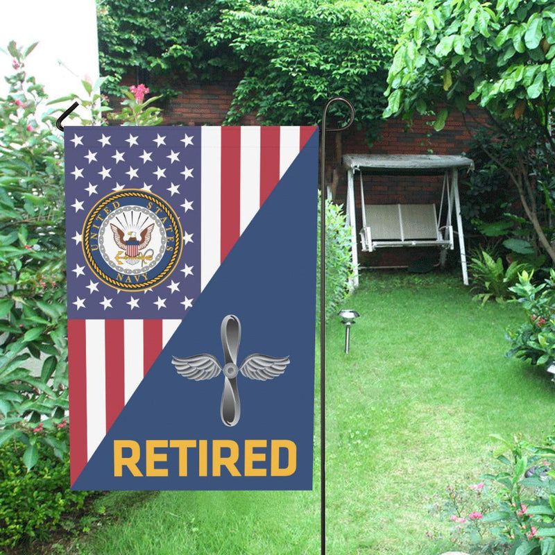 US Navy Aviation machinist's mate Navy AD Retired House Flag 28 inches x 40 inches Twin-Side Printing