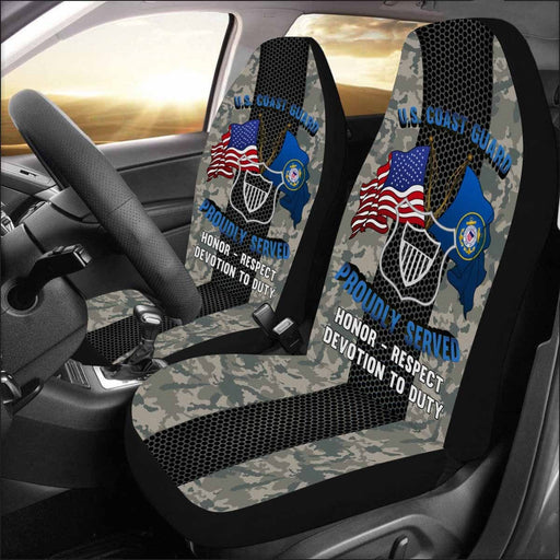 USCG MARITIME ENFORCEMENT ME Logo Proudly Served - Car Seat Covers (Set of 2)
