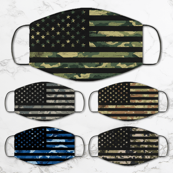 US Military Camo Uniform Face Mask