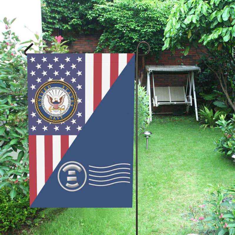 US Navy Postal Clerk Navy PC House Flag 28 inches x 40 inches Twin-Side Printing