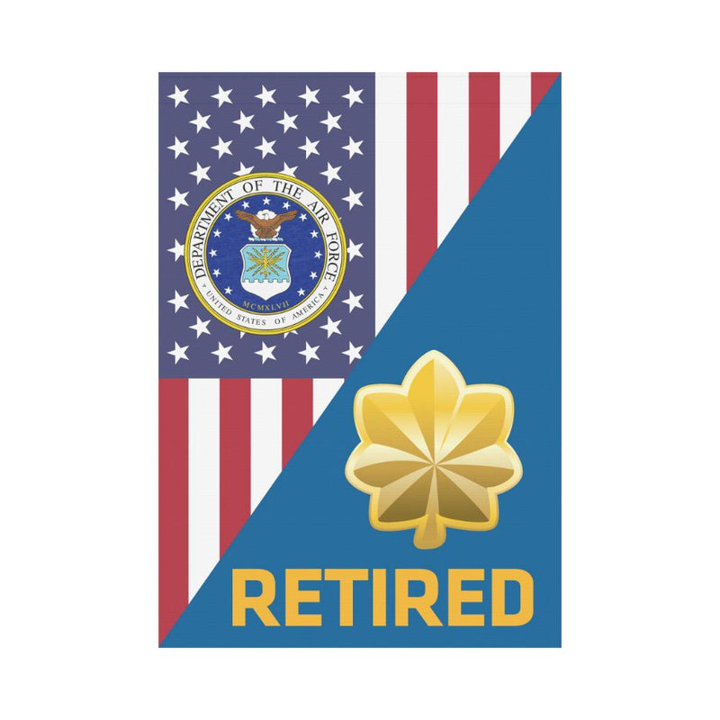 US Air Force O-4 Major Maj O4 Field Officer Retired House Flag 28 inches x 40 inches Twin-Side Printing