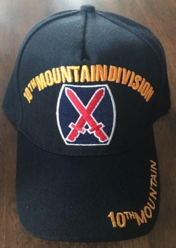 10TH MOUNTAIN DIVISION US MILITARY Embroidered hat Baseball cap adjustable