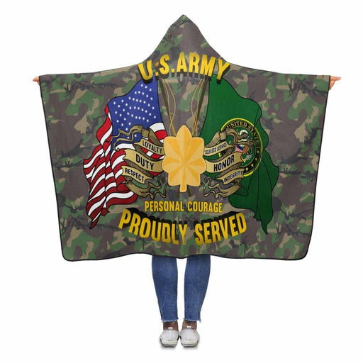 US Army O-4 Major O4 MAJ Field Officer Ranks Proudly Served