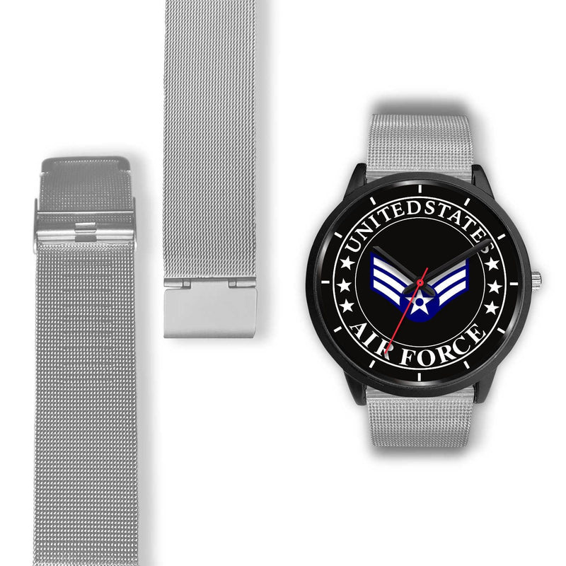 US Air Force E-4 Senior Airman SrA E4 Enlisted Airman Ranks Watch