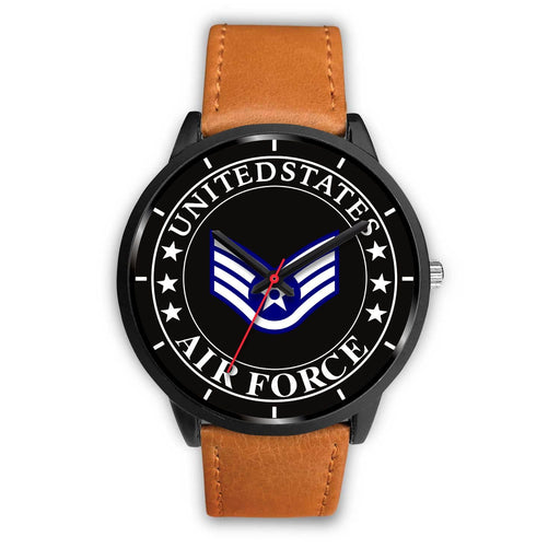 US Air Force E-5 Staff Sergeant SSgt E5 Noncommissioned Officer Ranks Watch