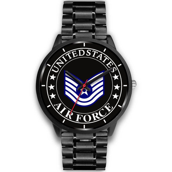 US Air Force E-6 Technical Sergeant TSgt E6 Noncommissioned Officer Ranks Watch
