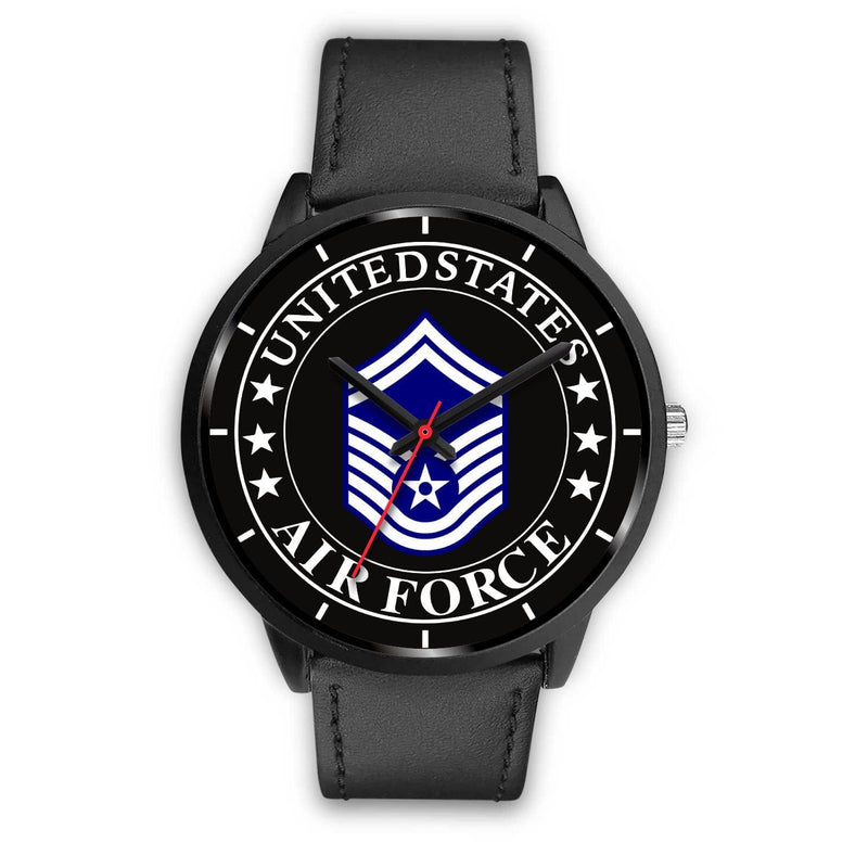 US Air Force E-8 Senior Master Sergeant SMSgt E8 Noncommissioned Officer Watch