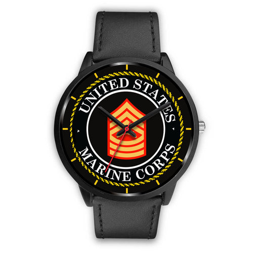 USMC E-8 Master Sergeant E8 MSgt USMC Staff Noncommissioned Officer Watch
