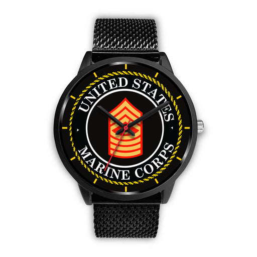 USMC E-9 Master Gunnery Sergeant E9 MGySg USMC Staff Noncommissioned Officer Watch