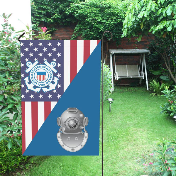 US Coast Guard Diver ND Garden Flag/Yard Flag 12 inches x 18 inches