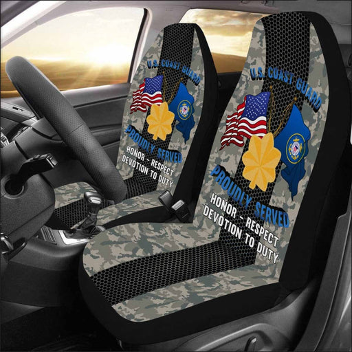 US Coast Guard O-4 Lieutenant Commander O4 LCDR Junior Officer Car Seat Covers (Set of 2)