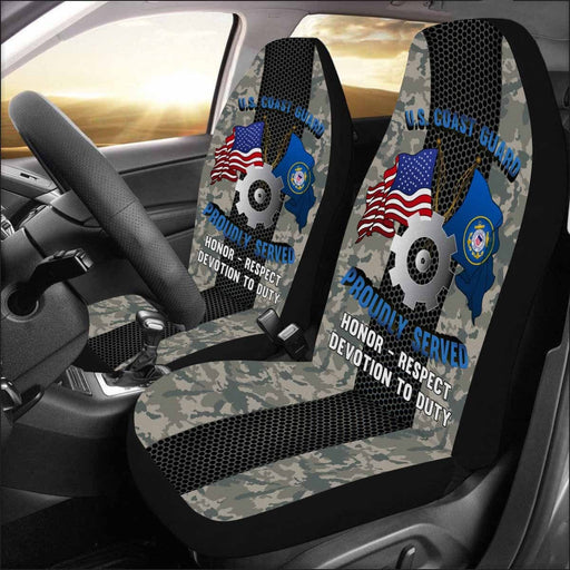 US Coast Guard Machinery Technician MK Logo Proudly Served - Car Seat Covers (Set of 2)
