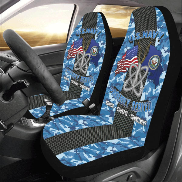 Navy Electronics Warfare Technician Navy EW Car Seat Covers (Set of 2)