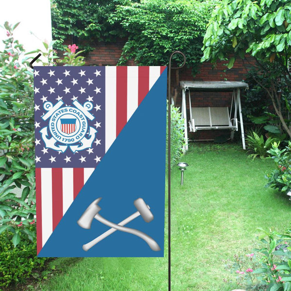 US Coast Guard Damage Controlman DC Garden Flag/Yard Flag 12 inches x 18 inches