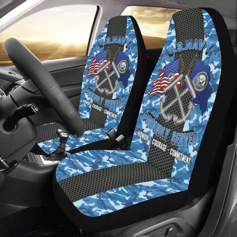 U.S Navy Boatswain's Mate Navy BM Car Seat Covers (Set of 2)