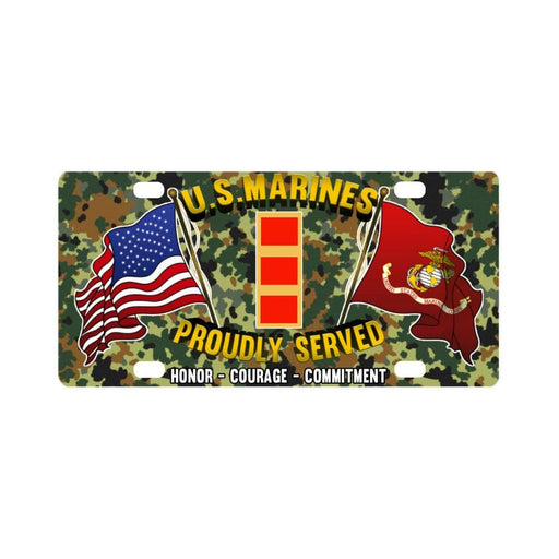 USMC W-2 Chief Warrant Officer 2 CW2 USMC CW2 Warr Classic License Plate