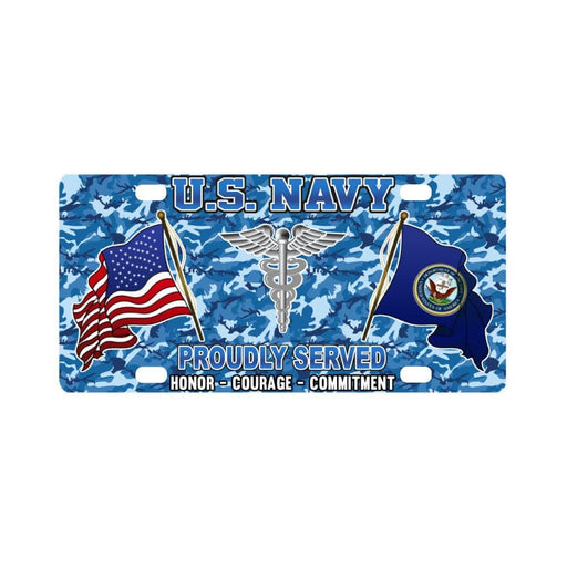U.S Navy Hospital Corpsman Navy HM - Classic License Plate