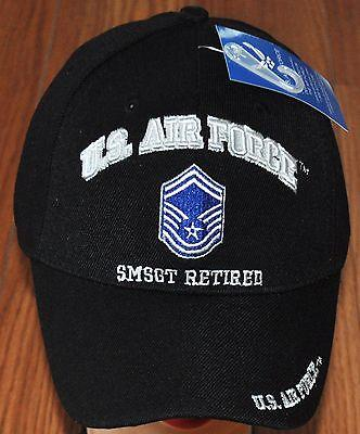 US Air Force E-8 SMSGT E8 Senior Master Sergeant Retired Embroidered Hat