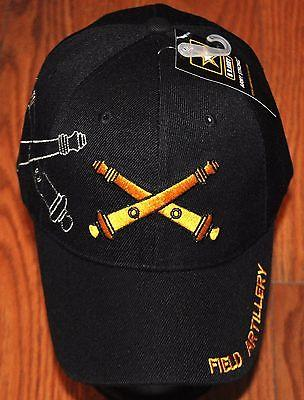 US Army Field Artillery Embroidered Black Hat