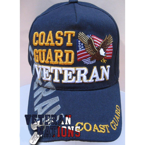 US Coast Guard Hat Eagle Blue Military Adjustable