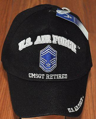US Air Force E-9 CMSGT E9 Chief Master Sergeant Retired Embroidered Hat