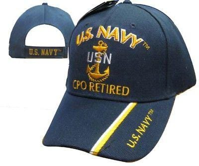 89b8703955615 U.S. Navy CPO Retired Hat Embroidered Hat