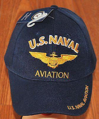 US Navy Naval Aviation Pilot Wings Embroidered Blue Hat