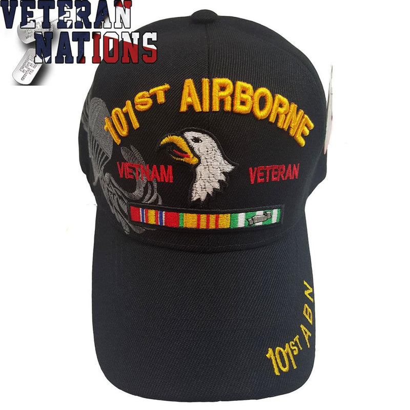 US Vietnam Veteran Military 101st Airborne Black Hat