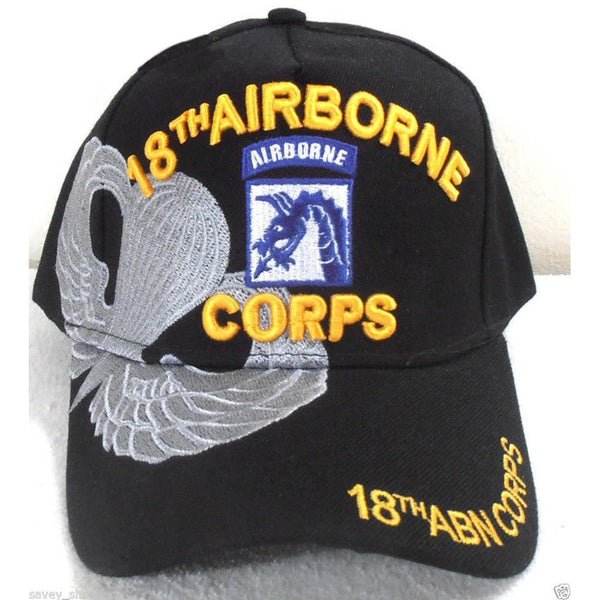 18th Airborne Coprs Hat w/Shadow Black