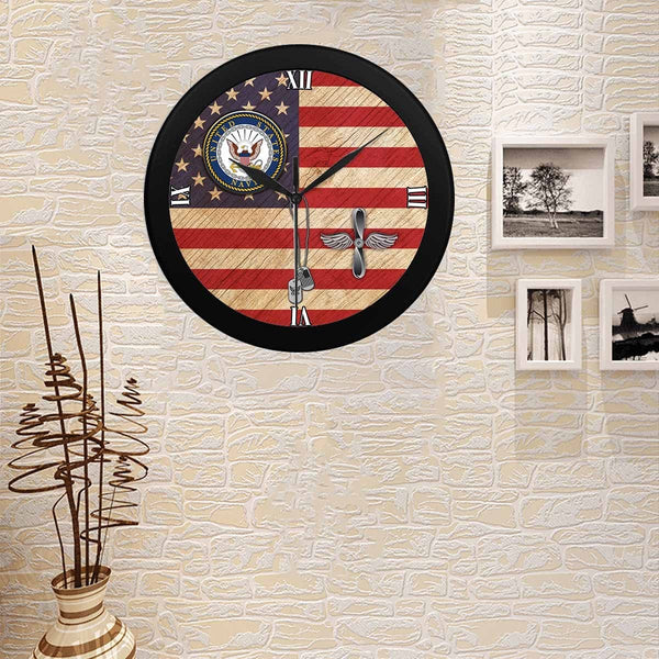 US U.S Navy Aviation machinist's mate Navy AD Wall Clock