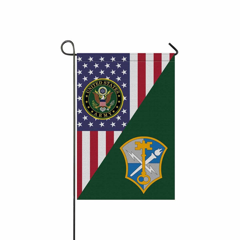 US ARMY CSIB INTELLIGENCE AND SECURITY COMMAND Garden Flag/Yard Flag 12 inches x 18 inches Twin-Side Printing