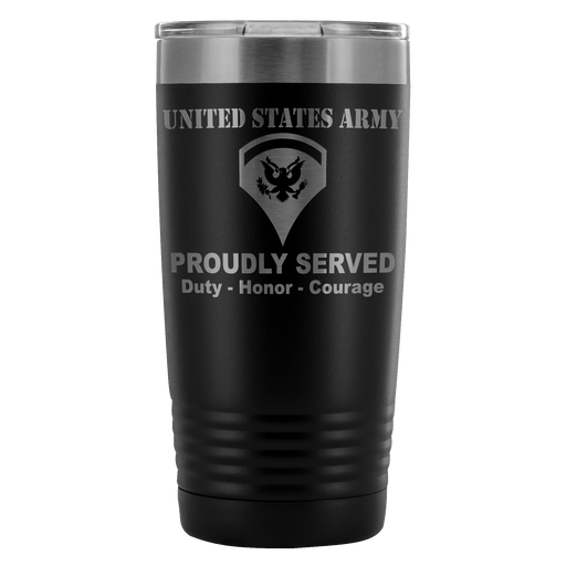 US Army E-5 SPC E5 Specialist Proudly Served - 20 Oz Ounce Vacuum Tumbler