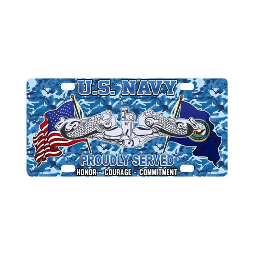 US Navy Submarine Enlisted Classic License Plate Classic License Plate