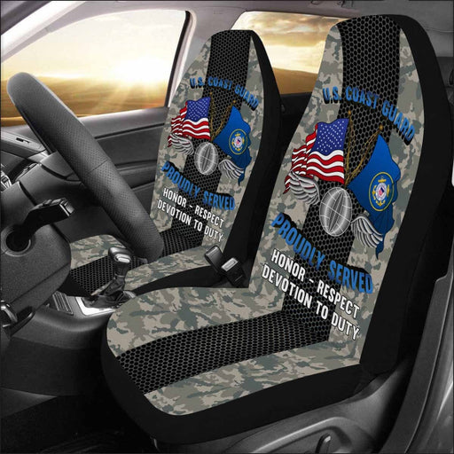 US Coast Guard Aviation Electronics Mate AE Logo Proudly Served - Car Seat Covers (Set of 2)