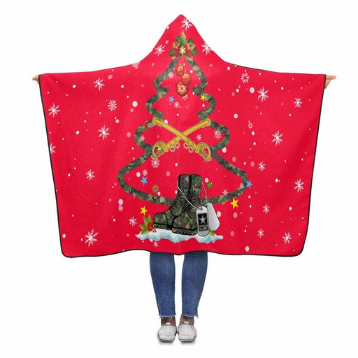 United States Cavalry - Christmas Hooded Blanket