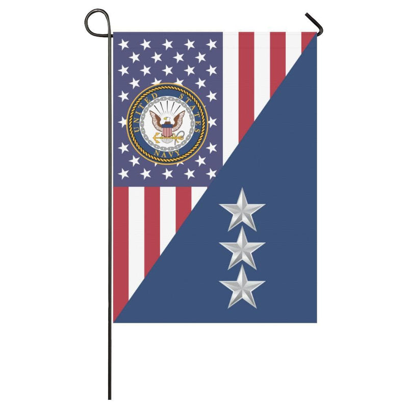 US Navy O-9 Vice Admiral O9 VADM Flag Officer House Flag 28 inches x 40 inches Twin-Side Printing
